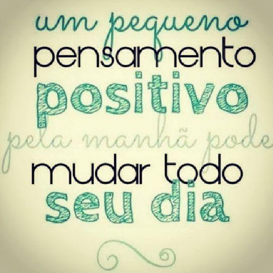 pensamento positivo - um pequeno pensamento